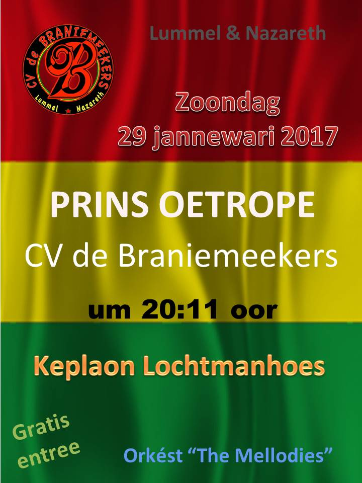 Poster Prins Oetrope 2017